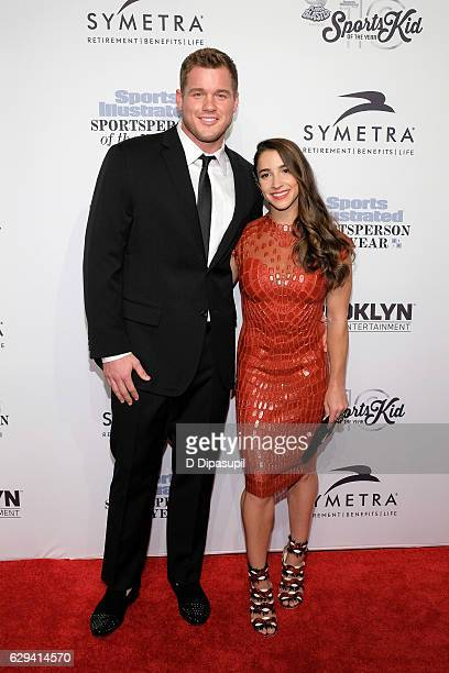 Colton Underwood and Aly Raisman attend the 2016 Sports Illustrated Sportsperson of the Year at Barclays Center of Brooklyn on December 12 2016 in...