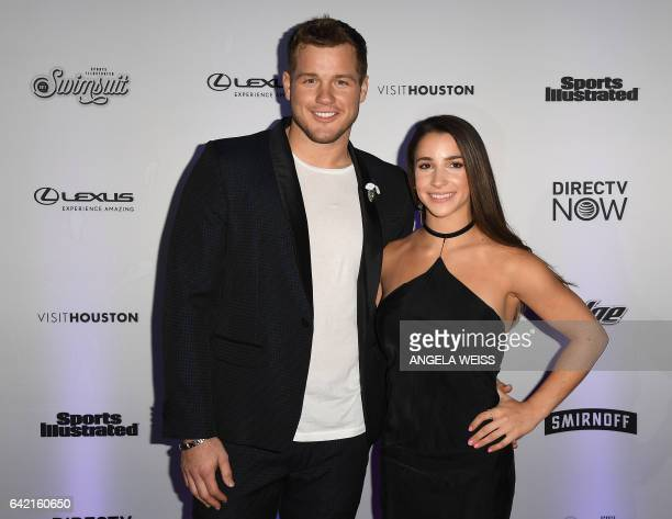 Colton Underwood and Aly Raisman attend the Sports Illustrated Swimsuit 2017 launch event at Center415 Event Space on February 16 2017 in New York...