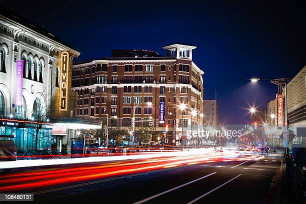 Columbia Heights, Washington DC, at night