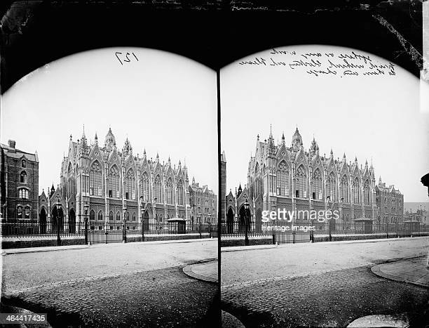 Columbia Market Bethnal Green London 1870 Stereoscopic exterior view of the Columbia Market in Bethnal Green This fish market was built in 1869 by...