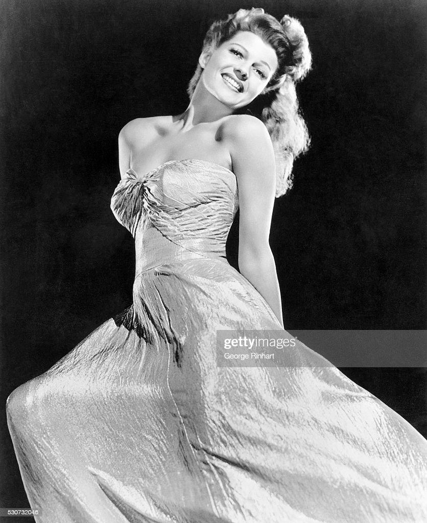 Columbia star Rita Hayworth in Glamour pose. Undated Photo.