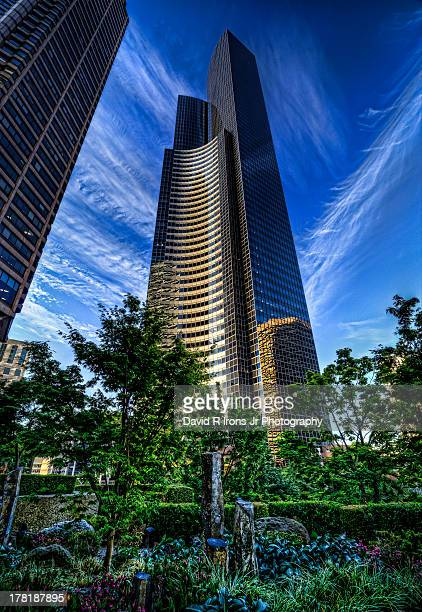 CONTENT] Columbia Tower Columbia Bank Building Skyscrapers Urban Jungle Seattle Washington Downtown Seattle Cirrus Clouds Washington State Pacific...