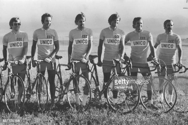 Columbine Cycle Club Riders In Gruelling Tour Of Sierras Riders left to right Jim Janelle Clint McAuliffe Tim Issac Bob Shaver John Dozier and Jack...