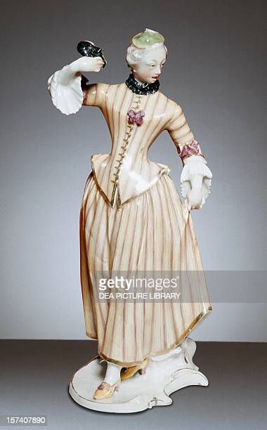 Columbine porcelain by Franz Anton Bustelli Nymphenburg manufacture Bavaria Germany 18th century London Victoria And Albert Museum