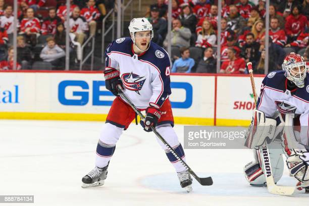 Columbus Blue Jackets defenseman Scott Harrington during the third period of the National Hockey League game between the New Jersey Devils and the...