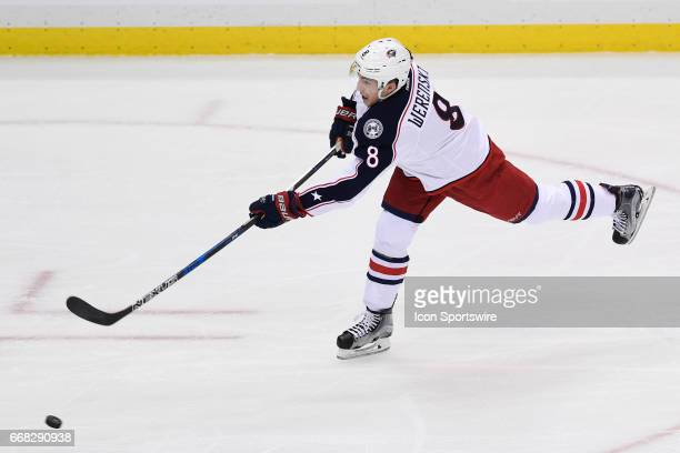 Columbus Blue Jackets defenseman Zach Werenski shoots the puck during the first period The Pittsburgh Penguins won 31 in Game One of the Eastern...