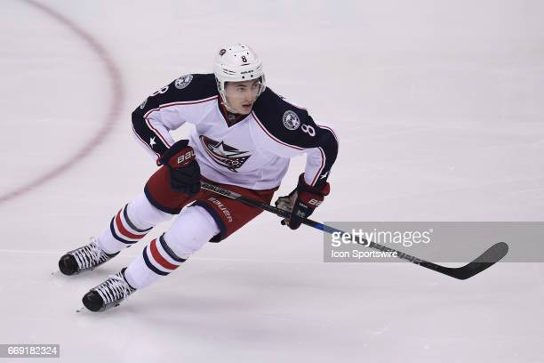 Columbus Blue Jackets defenseman Zach Werenski skates in open ice during the first period The Pittsburgh Penguins won 41 in Game Two of the Eastern...