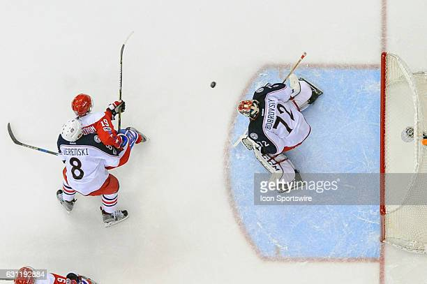 Columbus Blue Jackets goalie Sergei Bobrovsky makes a second period save on a shot by Washington Capitals center Nicklas Backstrom on January 5 at...