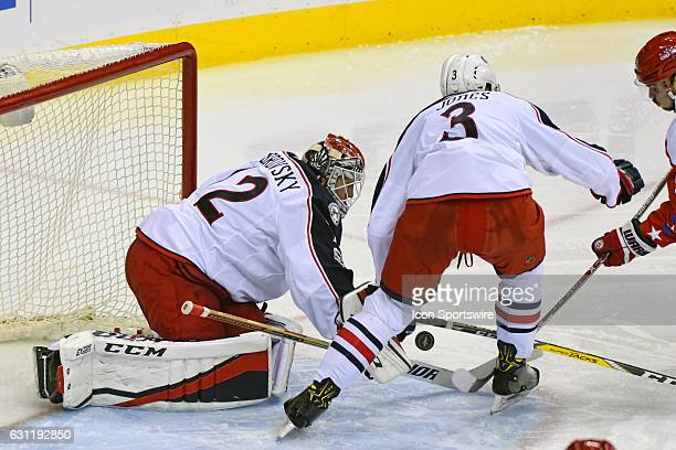 Columbus Blue Jackets goalie Sergei Bobrovsky makes a third period save on shot by Washington Capitals left wing Marcus Johansson on January 5 at the...