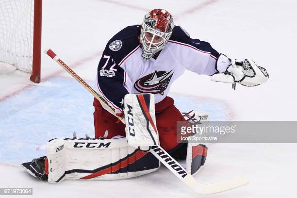 Columbus Blue Jackets goalie Sergei Bobrovsky tends net during the second period The Pittsburgh Penguins won 52 in Game Five of the Eastern...