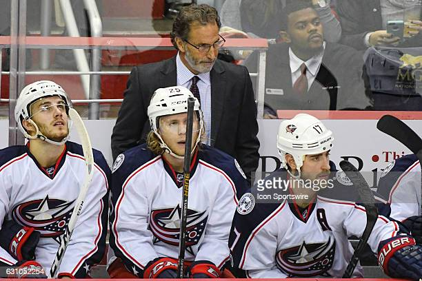 Columbus Blue Jackets John Tortorella stands behind the bench as time winds down in the third period on January 5 at the Verizon Center in Washington...