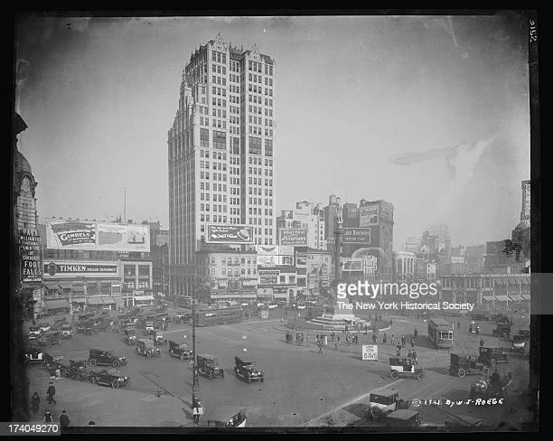 Columbus Circle looking northwest from the southeast corner of Broadway at Eighth Avenue New York New York 1921