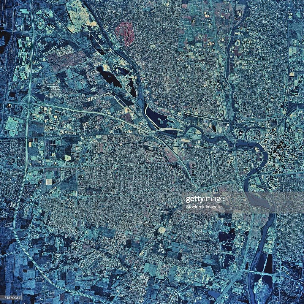 'Columbus, Ohio, satellite image'