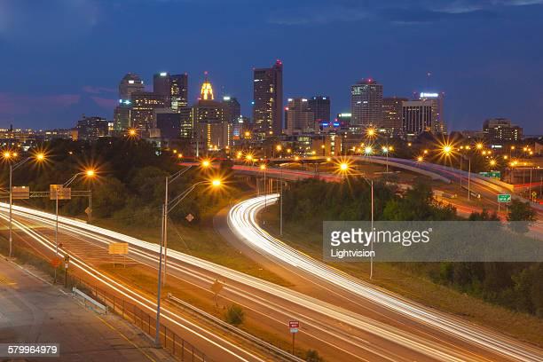 Columbus, Ohio skyline and Interstate