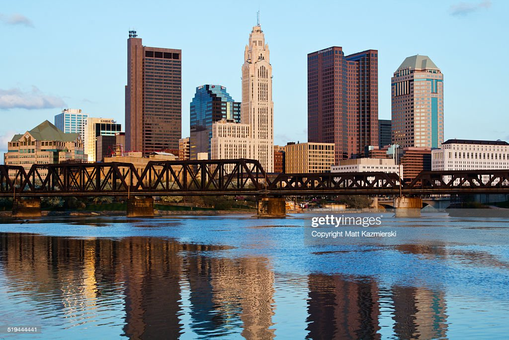 Columbus Ohio Skyline in Water