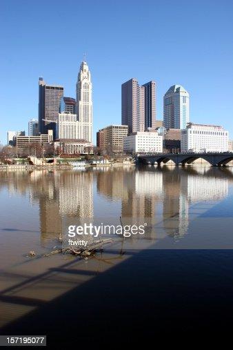 Columbus Ohio Skyline Vertical