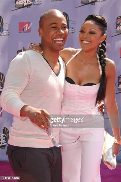 Columbus Short and Tanee McCall during 2007 MTV Movie Awards Arrivals at Gibson Amphitheater in Universal City California United States