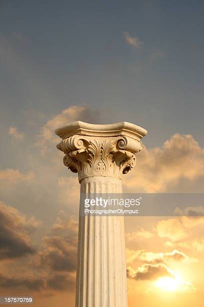 Column at sunset