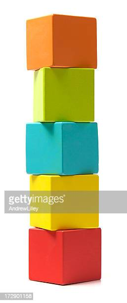 Column of building blocks