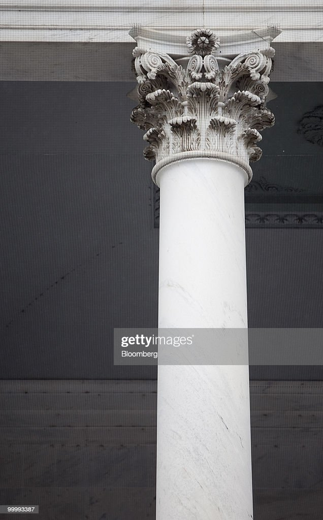 A column of Capitol building is seen in Washington, D.C., U.S., on Monday, May 17, 2010. The Capitol is the meeting place for the Senate and House of Representatives. Photographer: Andrew Harrer/Bloomberg via Getty Images