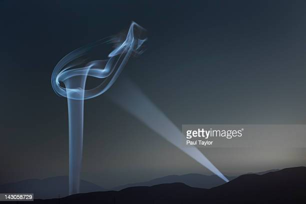 Column of Smoke with Spotlight