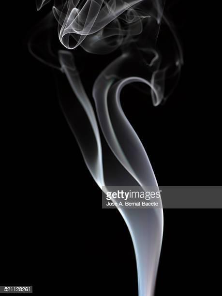 Column of white smoke