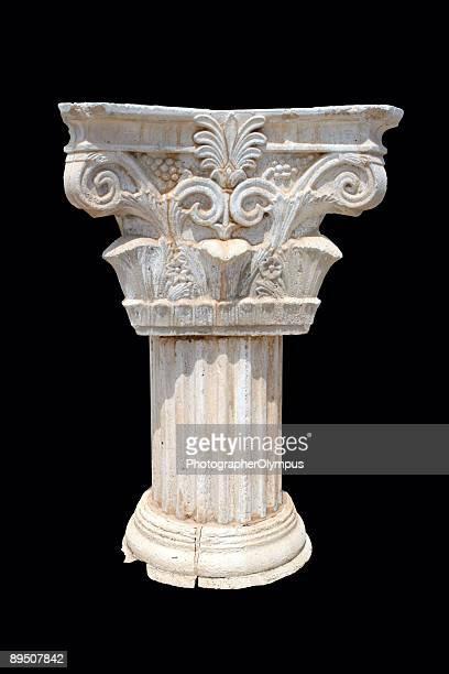 Column on dark background