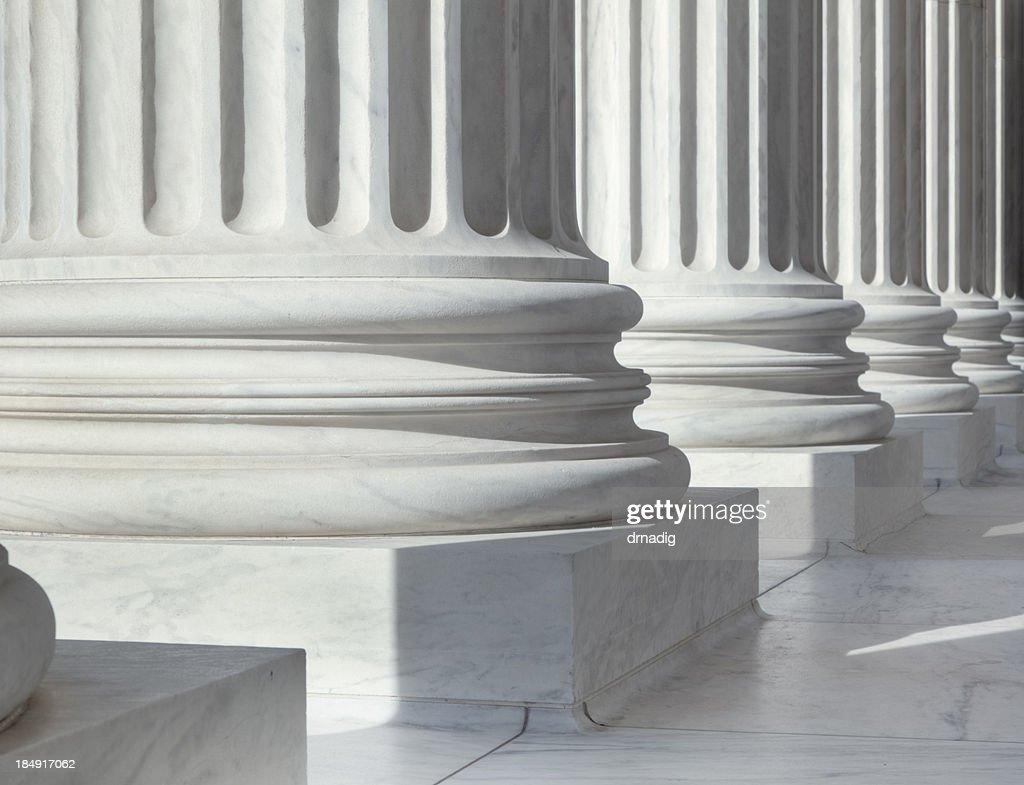 Column outside U.S. Supreme Court building : Stock Photo