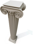 """""""Ionic column, view from above."""""""