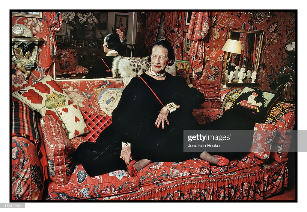Columnist Diana Vreeland is photographed for Vanity Fair Magazine on July 21, 1979 in New York City. PUBLISHED