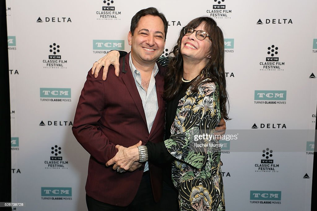 Columnist Scott Feinberg (L) and actress Talia Shire attend 'Rocky' screening during day 3 of the TCM Classic Film Festival 2016 on April 30, 2016 in Los Angeles, California. 25826_007
