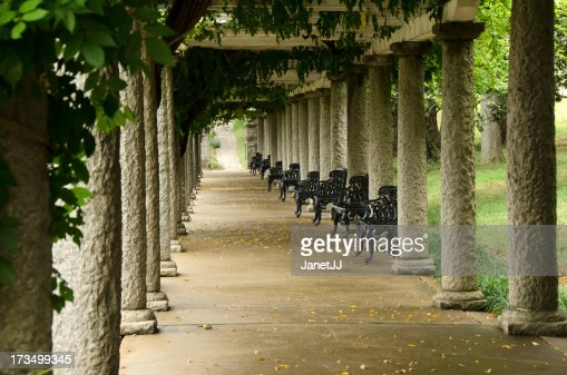 Columns And Ivy In Maymont Gardens Richmond Virginia Stock Photo