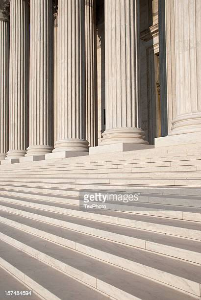 Columns and steps outside the US Supreme Court
