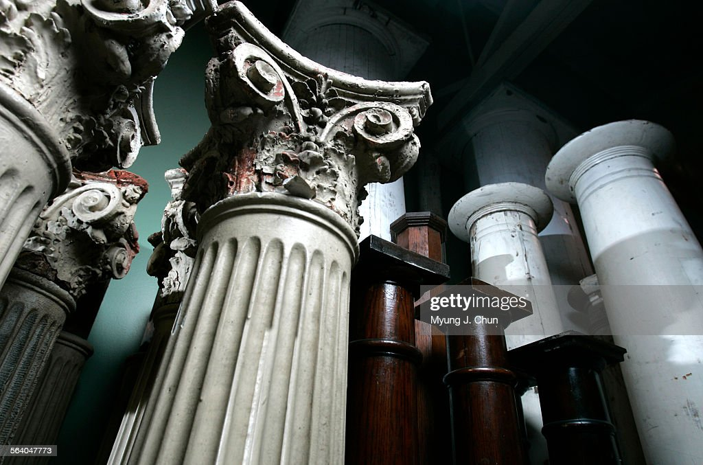 Columns Are Among The Unique Home Decorative Items Sold At Pasadena  Architectural Salvage The Business Specializes