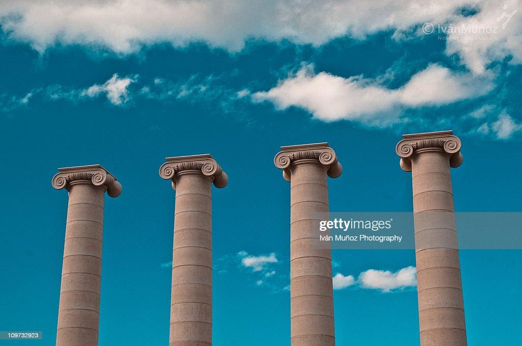 Columns at Plaza Spain. Barcelona
