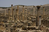 Djemila is a small mountain village in Algeria, near the northern coast east of Algiers, where some of the best preserved Berbero-Roman ruins in North Africa are found