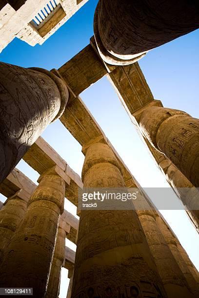 カルナック神殿の柱、ルクソール(エジプト)