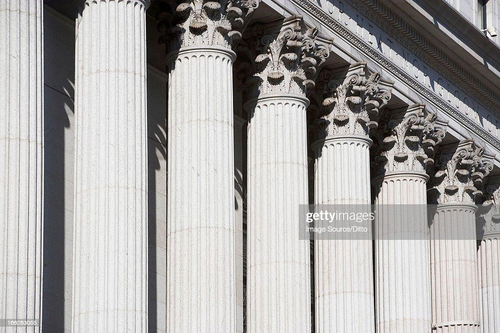 Columns of ornate building