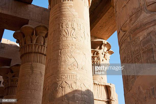 Columns Of The Hypostyle Hall Of The Temple Of Sobek And Haroeris Kom Ombo Aswan Egypt