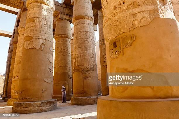 Columns of the Karnak Temple, in Luxor, Egypt