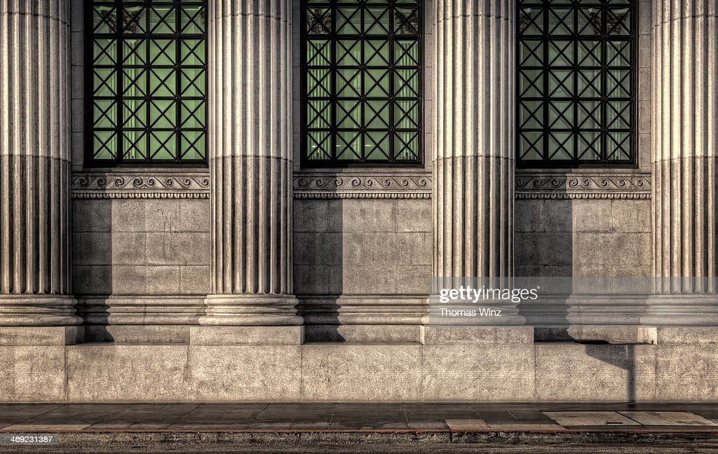 Columns on an old building