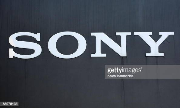 Comany's sign board is displayed at Sony Corporation's headquarters on December 10 2008 in Tokyo Japan Sony announced yesterday to slash 8000 jobs...