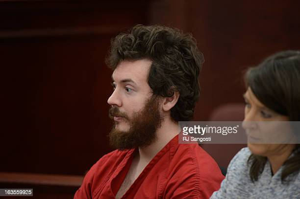 Aurora theater shooting suspect James Holmes with Defense attorney Tamara Brady in the courtroom during his arraignment Tuesday March 12 2013...