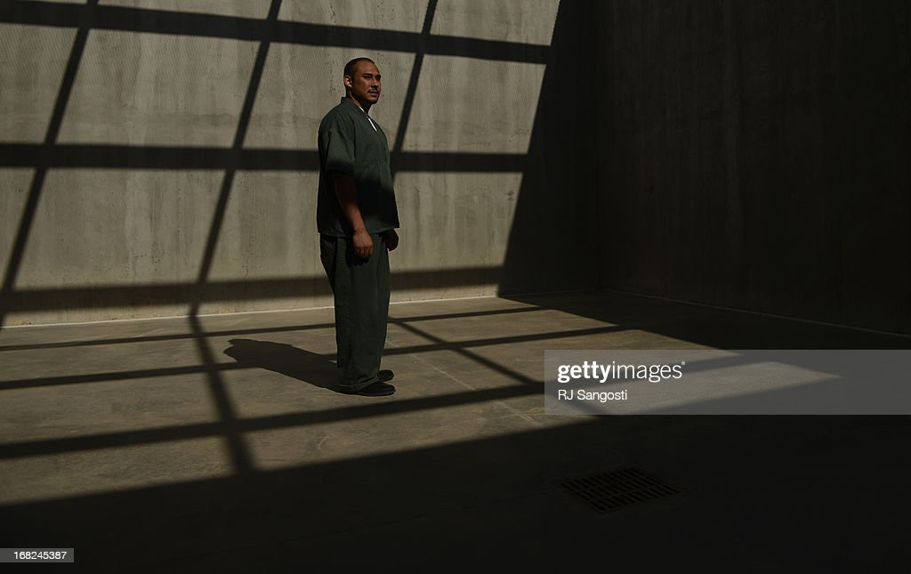 Inmate Ricardo Garcia took part in a prison program where he got to recorded himself reading a children's book at Sterling Correctional Facility, May 07, 2013. The program will send a DVD copy of him reading the book to his nephew on the outside.