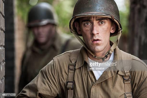 WWII Combat Infantryman on Patrol