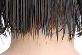 Combed woman's hair