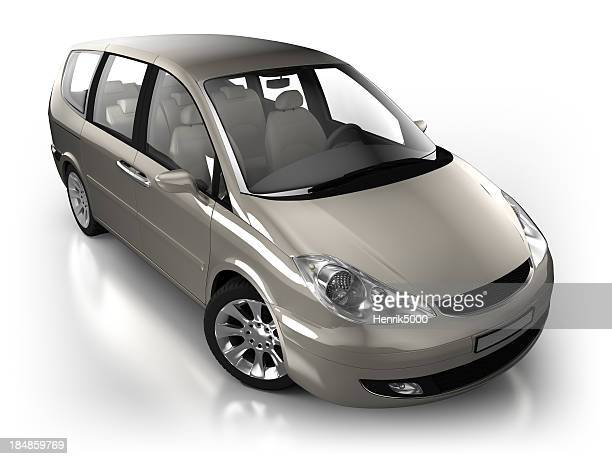 Combi car in studio - isolated with clipping path