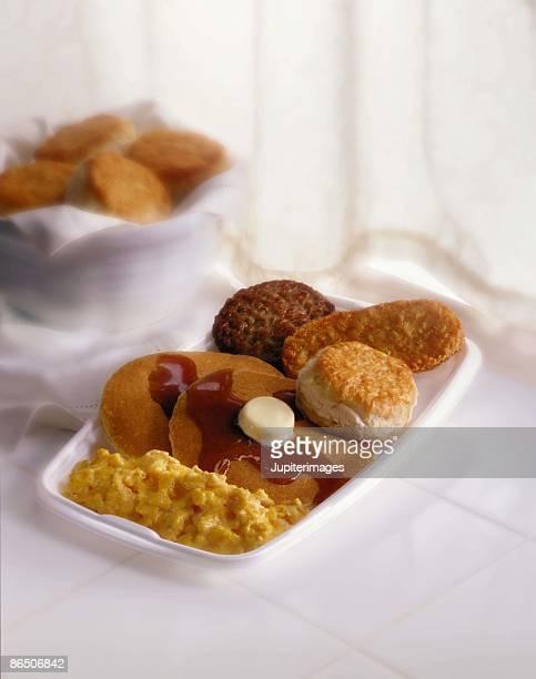 Combination breakfast tray