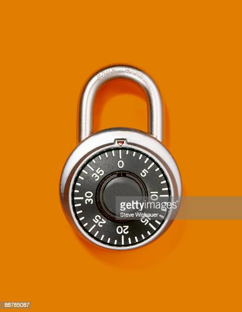 Combination lock or padlock closed and alone