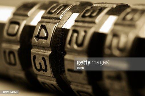 Combination lock : Stock Photo